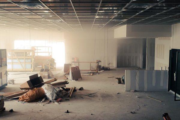 construction jobsite trash